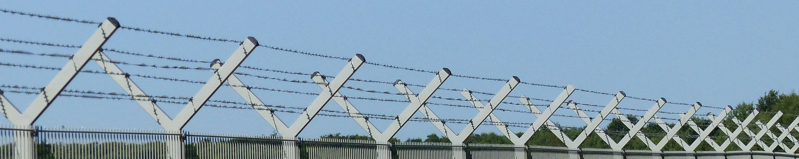 Security fence of an airport