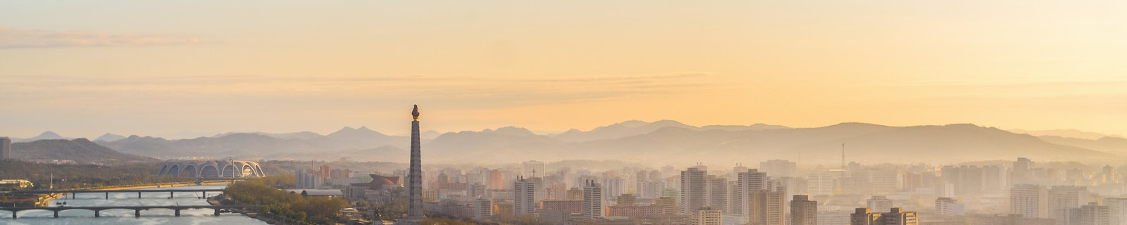 Cityscape of Pyongyang City