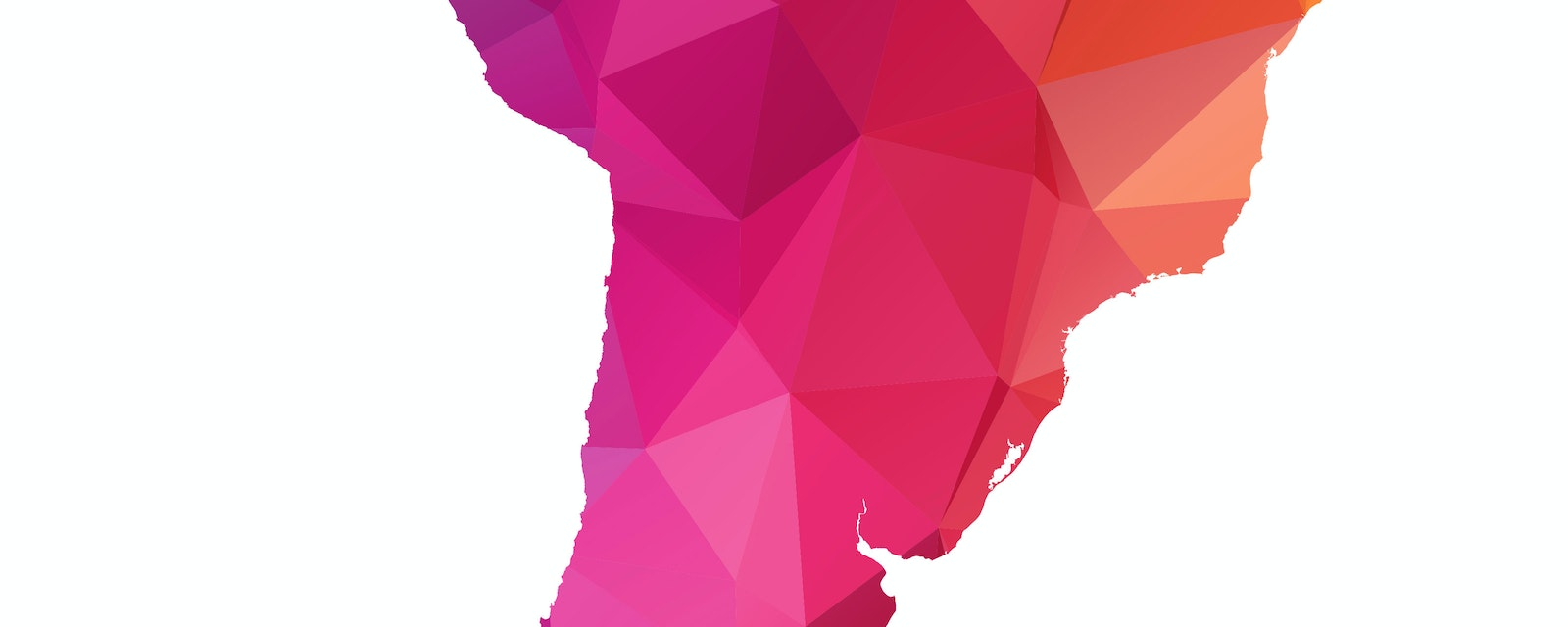 Abstract Polygon Map of Latin America