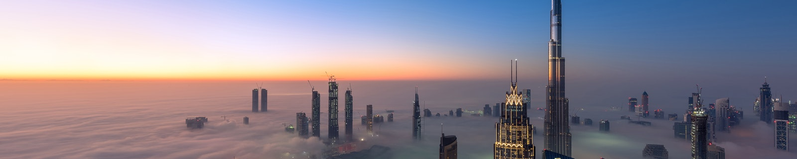 Cityscape of Dubai City