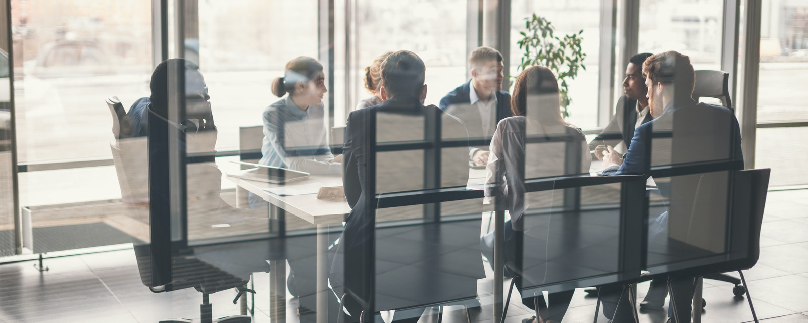 Business people group have meeting and working in modern office