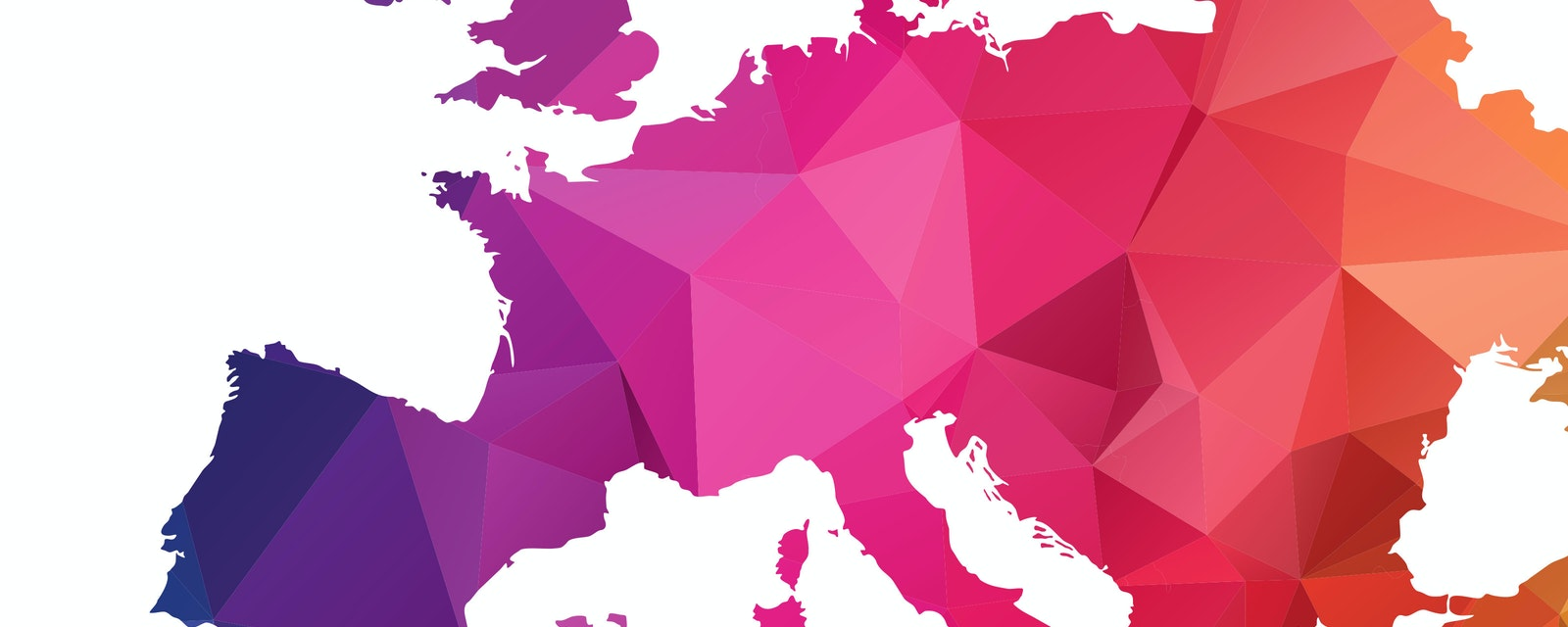 Abstract Polygon Map of Europe Continent