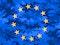 Flag of European Union stylized with a military theme
