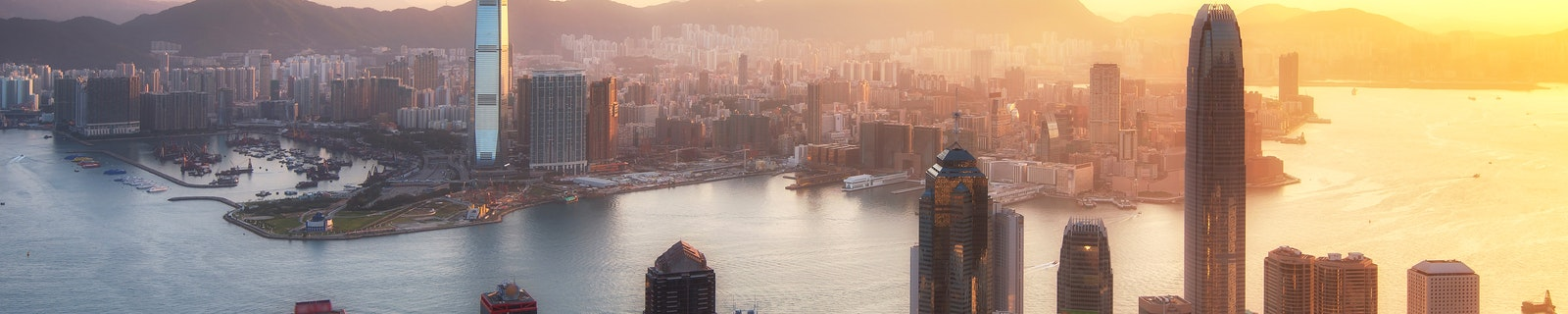 Cityscape of Hong Kong City