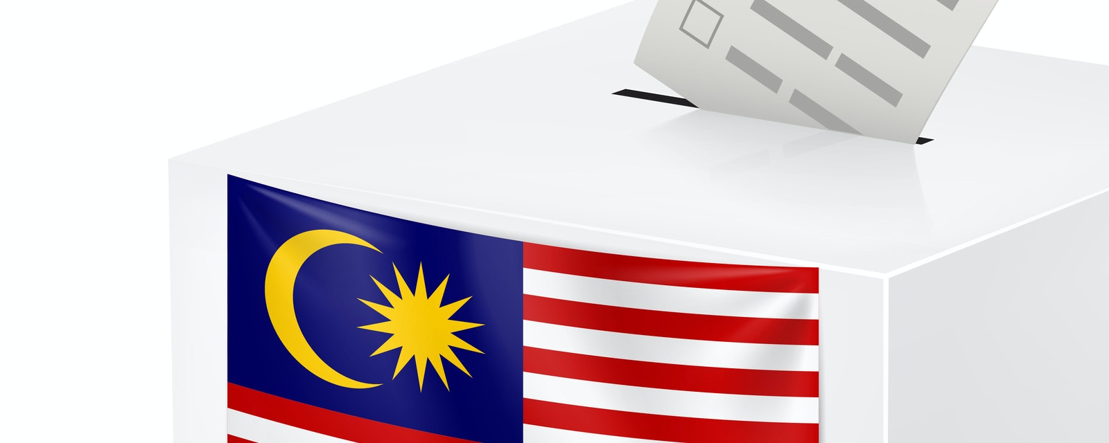 Illustration of voting booth in Malaysia