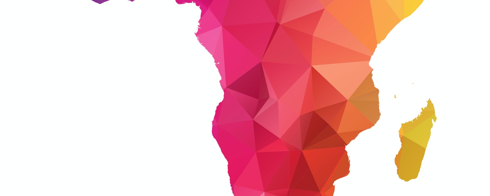Abstract Polygon Map of Sub-Saharan Africa
