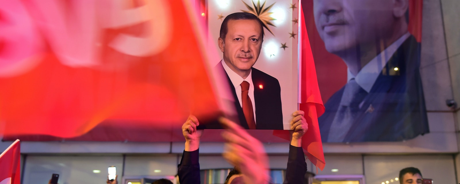 AK Party and Erdogan supporters congratulate the results of the referendum