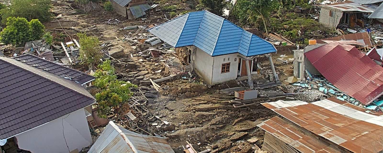 Drone Photo at Palu Sulawesi Indonesia after the Tsunami and Earthquake