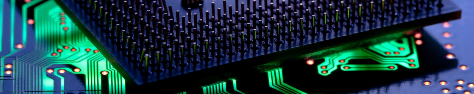 Computer chip closeup