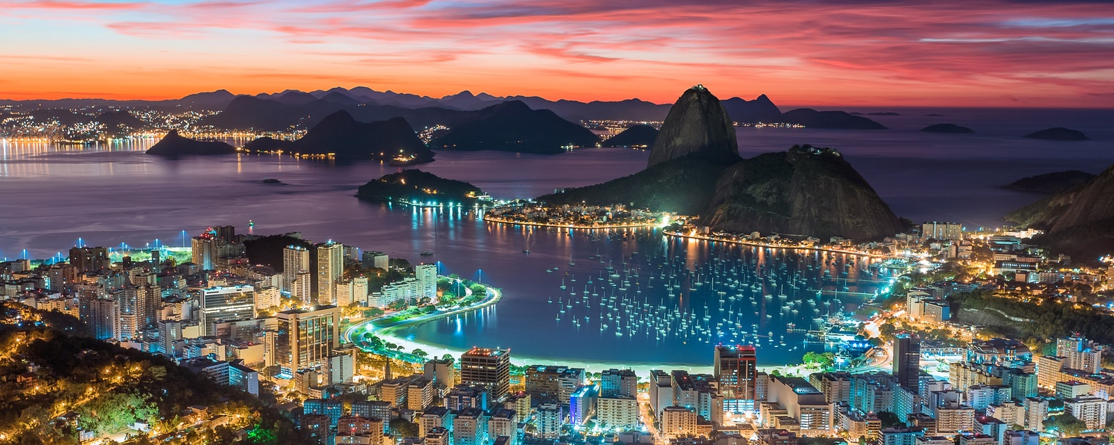 Sunset,In,Rio,De,Janeiro,-,Brazil