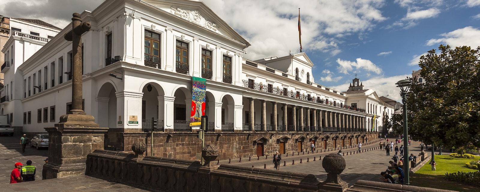 Quito,,Ecuador,-,February,9,,2014:,Palace,Of,Carondelet,,Building