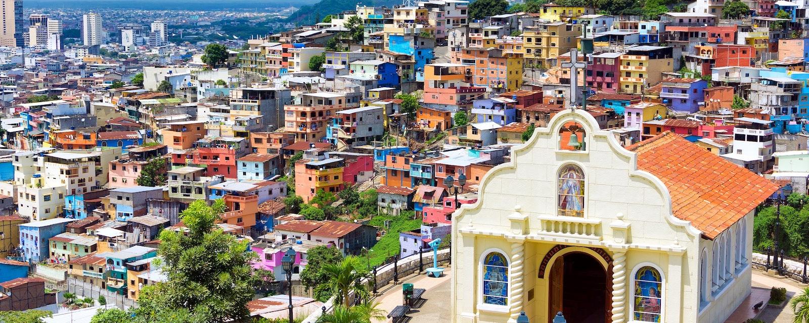 Church,In,The,City,Of,Guayaquil,,Ecuador,On,Santa,Ana
