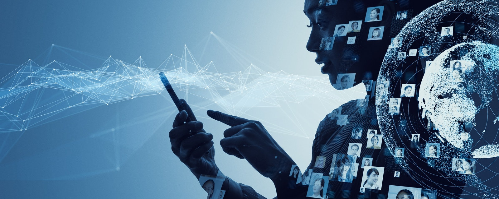 Social,Media,Concept.,Communication,Network.