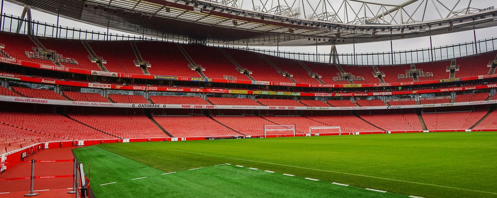 London,-,Uk,,February,2017:,Arsenal,Emirates,Stadium,With,A