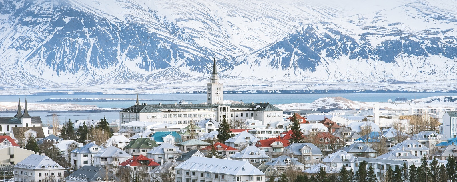 Reykjavik,The,Capital,City,Of,Iceland,In,Winter,Snow,View