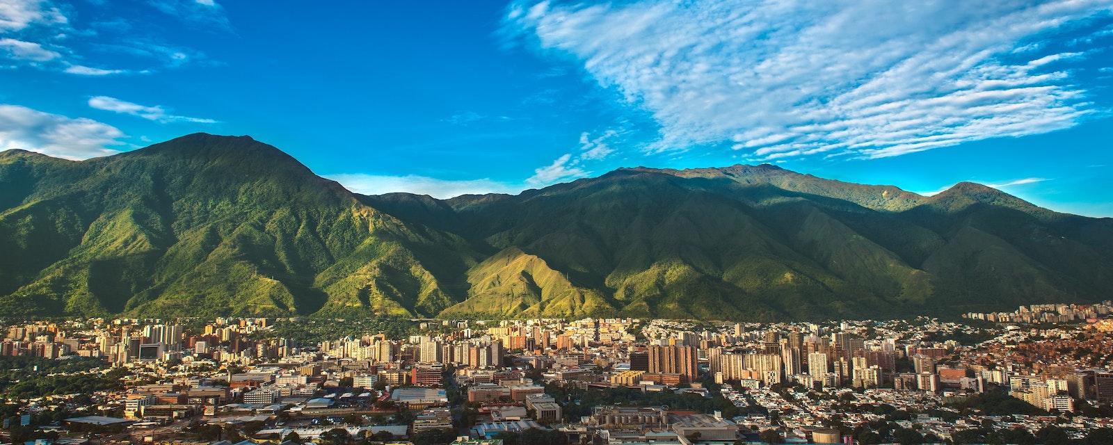 City,Of,Caracas,On,A,Vibrant,Day