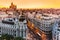 Panoramic,Aerial,View,Of,Gran,Via,,Main,Shopping,Street,In