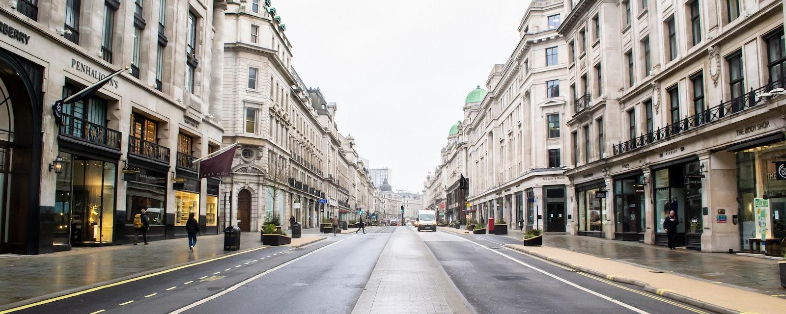 Regent,Street,,London,,England-,17th,February,2021:,A,Quiet,Regent