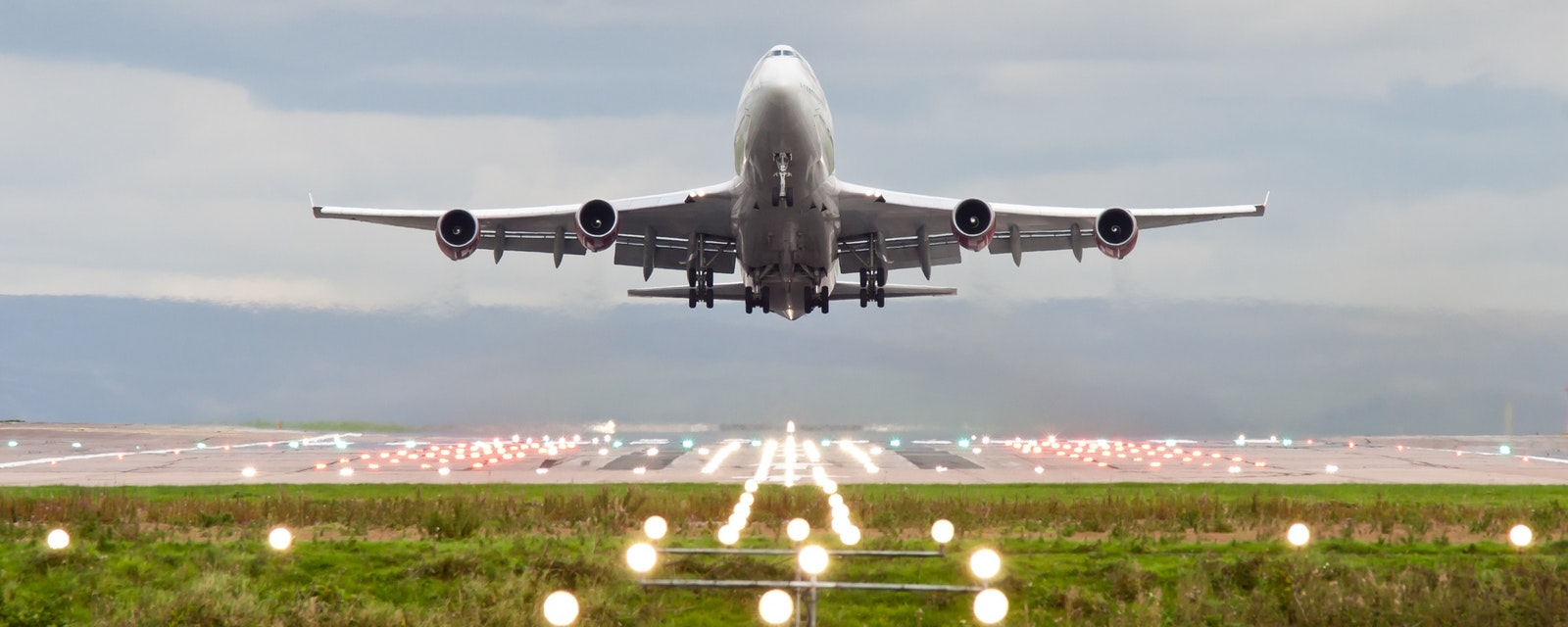 Airplane,Take,Off,At,Manchester,Airport,,England,,Uk.