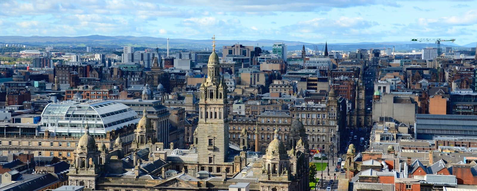 The,Glasgow,Skyline,Looking,Towards,George,Square,And,The,City