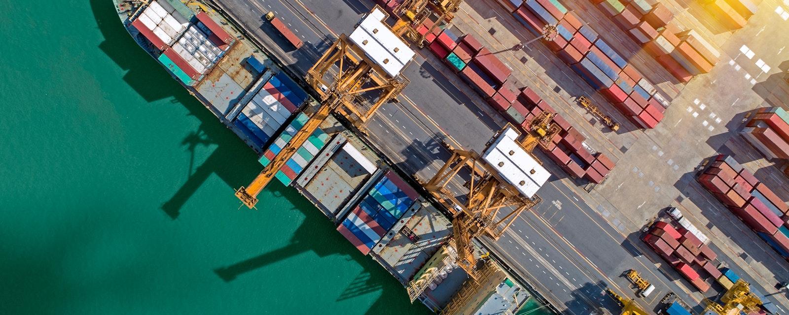 Logistics,And,Transportation,Of,Container,Cargo,Ship,And,Cargo,Plane