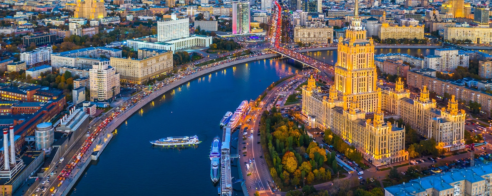 Moscow,City,With,Moscow,River,At,Night,,Moscow,Skyline,With
