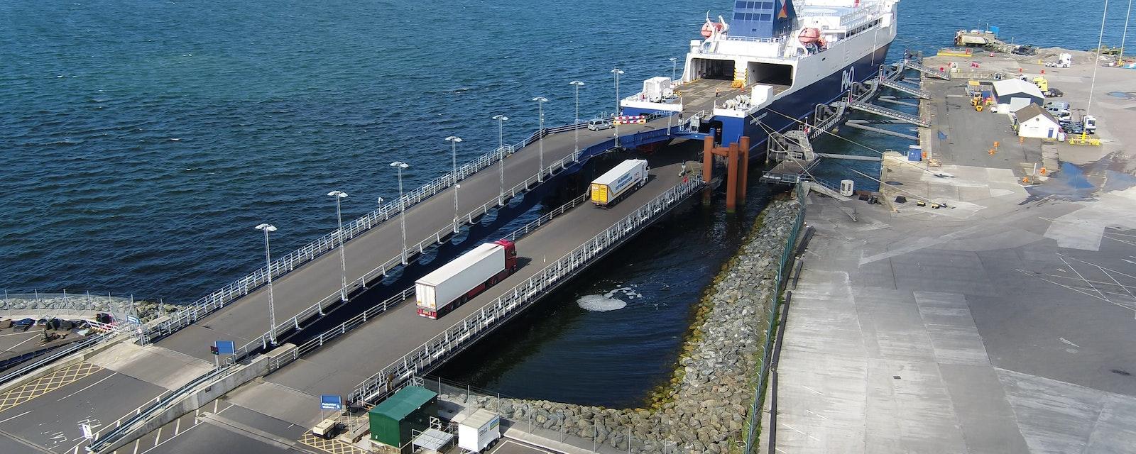 Cairnryan,Harbour,Scotland,P,And,O,Car,Ferry,To,Larne