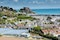 View,To,Mont,Orgueil,Castle,With,Harbour,In,Gorey,,Jersey,