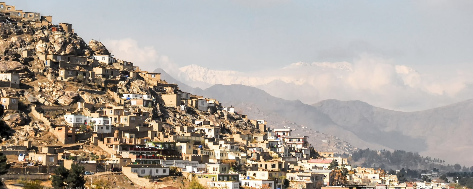 Informal,Settlements,In,Kabul,Afghanistan,On,A,Hill